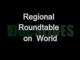 Regional Roundtable on  World