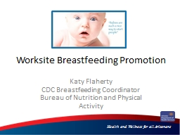 Worksite Breastfeeding Promotion