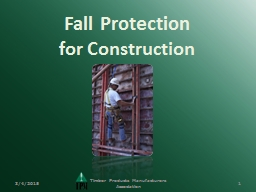Fall Protection  for Construction PowerPoint PPT Presentation