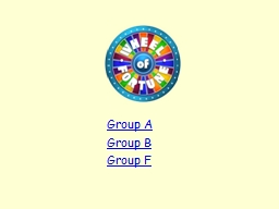 Group A Group B Group F AQA A Level History Unit 1C: PowerPoint PPT Presentation