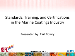 Standards, Training, and Certifications in the Marine Coatings Industry