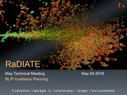 RaDIATE January Technical Meeting			January 12 2017