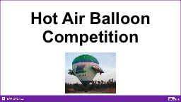 Hot Air Balloon Competition