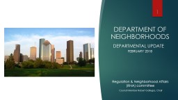 DEPARTMENT OF NEIGHBORHOODS