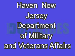 Veteran�s Haven  New Jersey Department of Military and Veterans Affairs