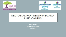 Regional Partnership Board and Carers PowerPoint PPT Presentation