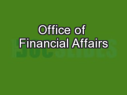 Office of Financial Affairs
