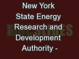 New York State Energy Research and Development Authority -