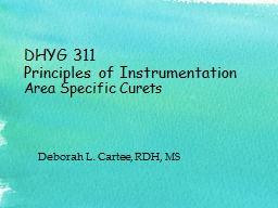 DHYG 311 Principles of Instrumentation