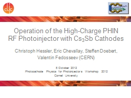 Operation of the High-Charge PHIN