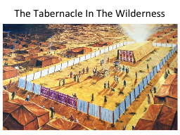 Finding Jesus in the Tabernacle PowerPoint PPT Presentation