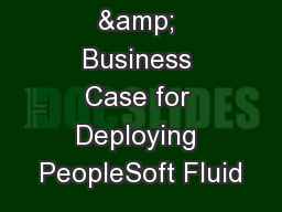 The Value & Business Case for Deploying PeopleSoft Fluid PowerPoint PPT Presentation