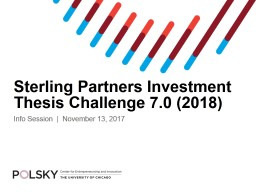 Sterling Partners Investment Thesis Challenge 7.0 (2018)