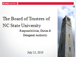 The Board of Trustees of