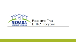Fees and The  LIHTC Program