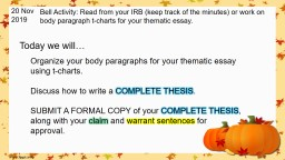 20 NOV 2014 Bell Activity:  use this time to review the vocabulary.  The final will include vocabul