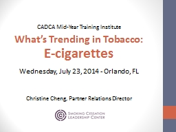 CADCA  Mid-Year  Training