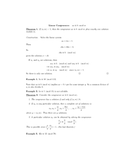 Linear Congruences ax mod Theorem