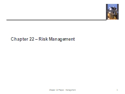Chapter 22 – Risk Management PowerPoint PPT Presentation