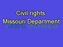 Civil rights Missouri Department