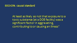 At least as  likely  as not that exposure to a toxic substance (at a DOE facility) was a significan