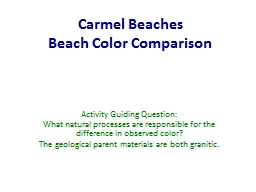 Carmel Beaches Beach Color Comparison
