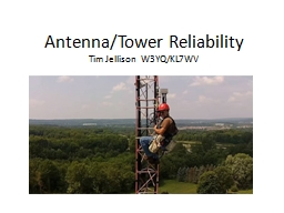 Antenna/Tower Reliability
