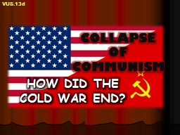 COLLAPSE OF COMMUNISM HOW DID THE COLD WAR END?