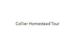 Collier Homestead Tour Program locations at Buffalo National River