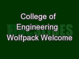 College of Engineering  Wolfpack Welcome