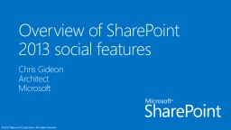 Overview of SharePoint 2013 social features
