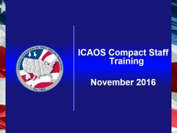 ICAOS Compact Staff Training