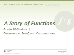 A Story of Functions Grade 10-Module 1