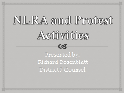 NLRA and Protest Activities