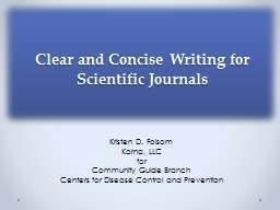 Clear and Concise Writing for