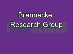 Brennecke Research Group