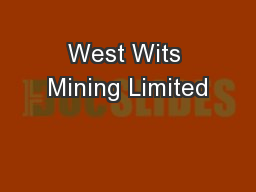 West Wits Mining Limited