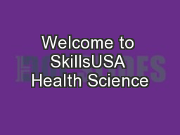 Welcome to SkillsUSA Health Science
