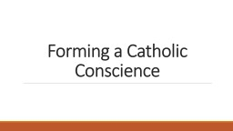 Forming a Catholic Conscience