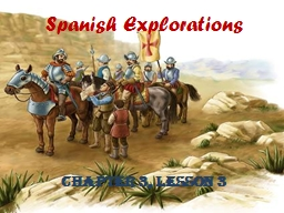 Spanish Explorations Chapter 3, Lesson 3