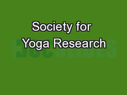 Society for Yoga Research