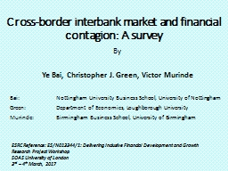 Cross-border interbank market and financial contagion: A survey