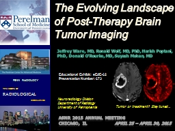The Evolving Landscape of Post-Therapy Brain Tumor Imaging
