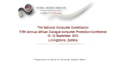 The National Consumer Commission