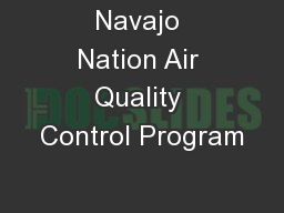 Navajo Nation Air Quality Control Program