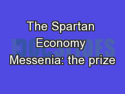 The Spartan Economy Messenia: the prize