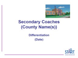 Secondary Coaches (County Name(s)) PowerPoint PPT Presentation