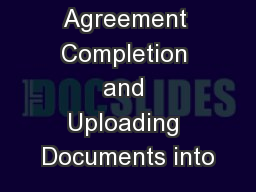 Enrollment Agreement Completion and Uploading Documents into