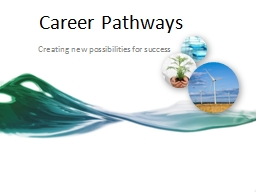 Career Pathways Creating new possibilities for success