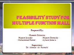 Feasibility Study for Multiple Function Mall